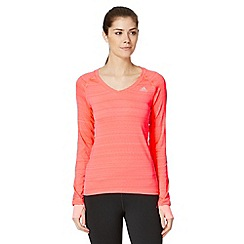 adidas - Coral 'Climacool' long sleeved sports top
