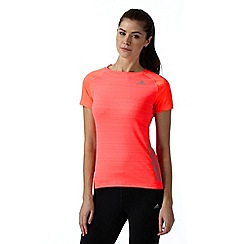 adidas - Coral 'Supernova' logo sports t-shirt