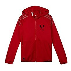 adidas - Boy's red 'Climalite' graphic print hoodie