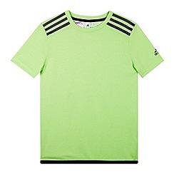 adidas - Boy's green 'Climachill' t-shirt