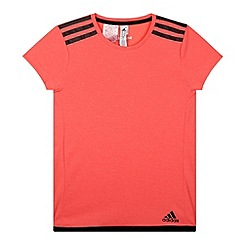 adidas - Girl's pink 'Climachill' t-shirt