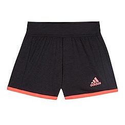 adidas - Girl's black 'Climacool' sports shorts