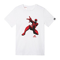 adidas - White boy's Spiderman t-shirt