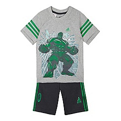 adidas - Boy's grey 'Hulk' t-shirt and shorts set