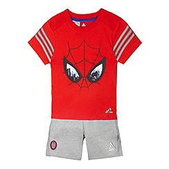 adidas - Boy's red 'Spiderman' t-shirt and shorts set
