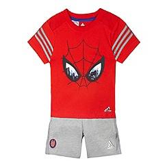 adidas - Boy's red 'Spiderman' t-shirt and shorts set