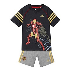 Iron Man - Boy's dark grey 'Iron Man' t-shirt and shorts set