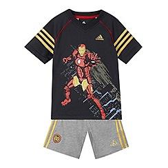 Iron Man - Boy's dark grey 'Iron Man' t-shirt and shorts set