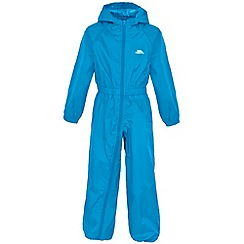 Trespass - Boy's blue button rain suit