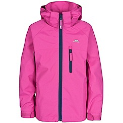 Trespass - Girl's pink raincloud jacket