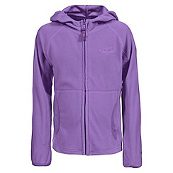 Trespass - Girl's purple snozzle fleece