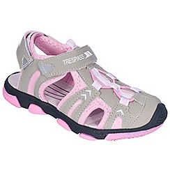 Trespass - Girl's grey jilly bean sandals