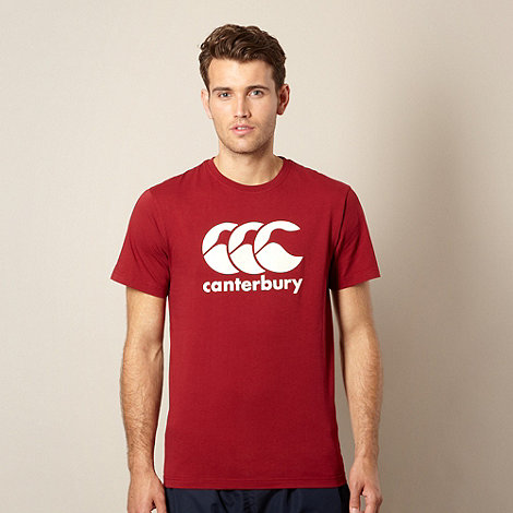 Canterbury - Maroon logo t-shirt