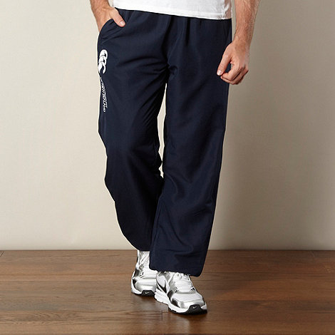 Canterbury - Navy logo embroidered jogging bottoms