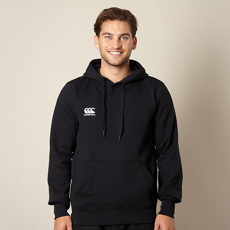 Canterbury - Black small logo pull over hoodie
