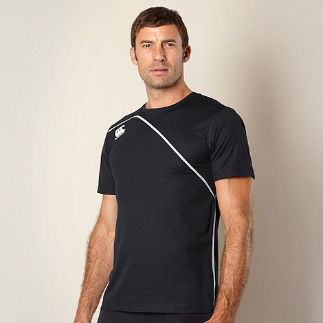 Canterbury - Black diagonal panelled training t-shirt