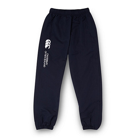 Canterbury - Boy+s navy woven jogging bottoms