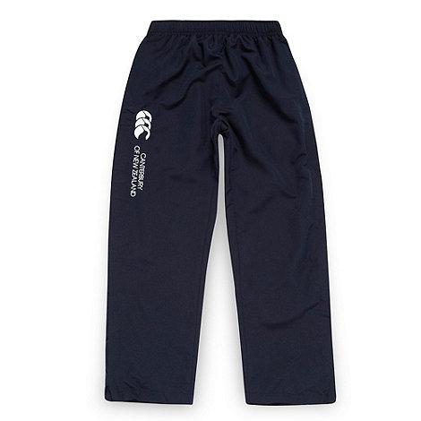 Canterbury - Boy+s navy zip hem jogging bottoms