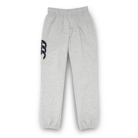 Canterbury - Boy+s grey cuffed jogging bottoms