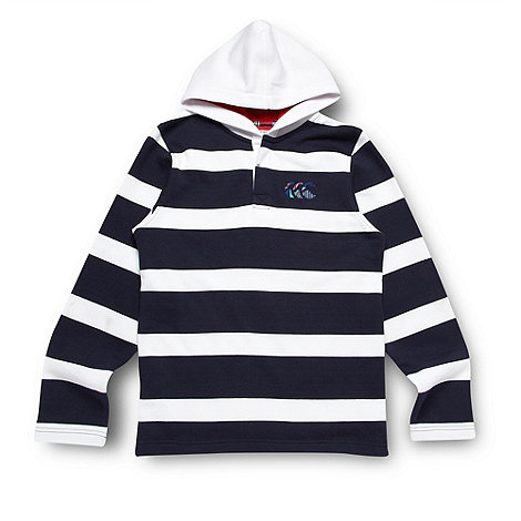Canterbury - Boy+s navy striped hoodie