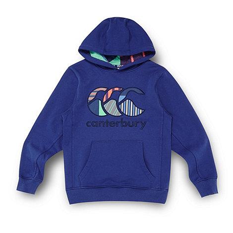 Canterbury - Boy+s navy logo hoodie