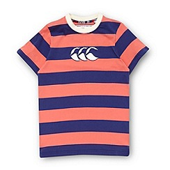 Canterbury - Boy's coral logo applique t-shirt