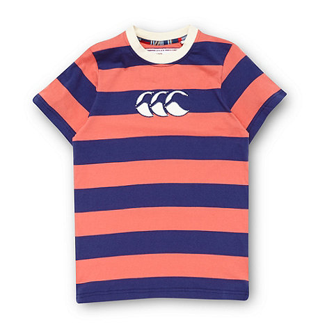 Canterbury - Boy+s coral logo applique t-shirt