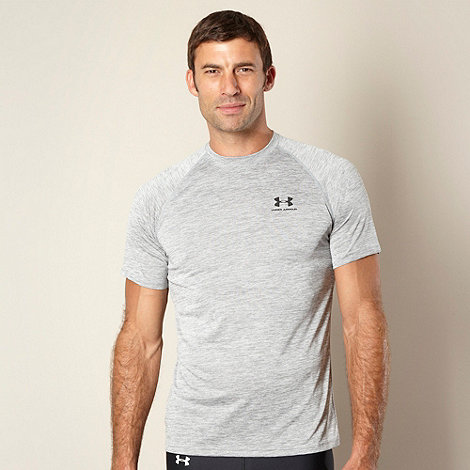 Under Armour - Grey plain technical t-shirt