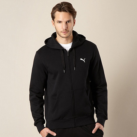 Puma - Black zip through hoodie
