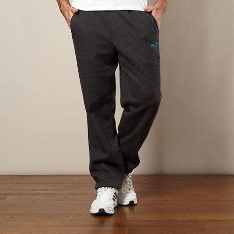Puma - Dark grey cuffed jogging bottoms