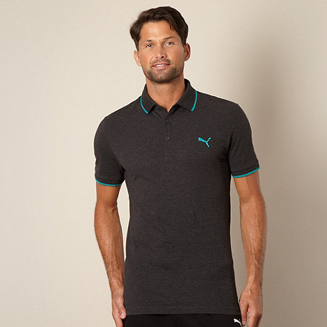 Puma - Dark grey pique polo shirt