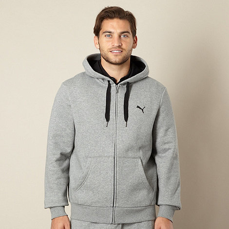 Puma - Grey zip through hoodie