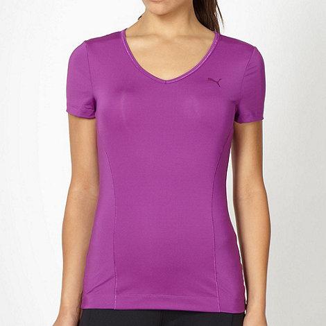 Puma - Purple V neck t-shirt