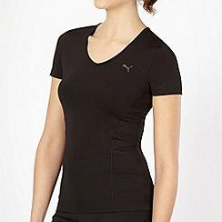 Puma - Black V neck gym t-shirt