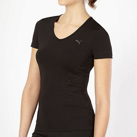 Puma - Black V neck gym t-shirt