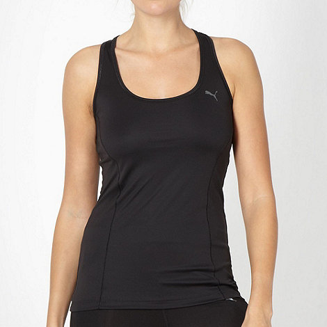 Puma - Black racer back tank top