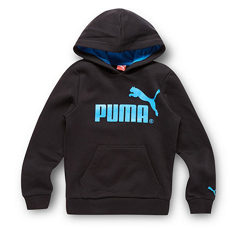 Puma - Boy+s black logo hoodie