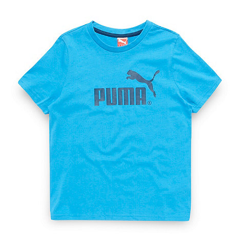 Puma - Boy+s blue logo t-shirt