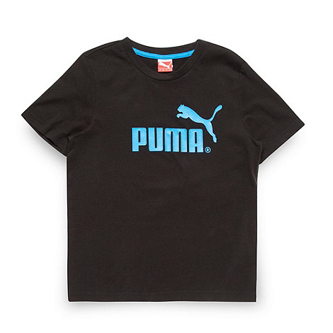 Puma - Boy+s black logo t-shirt