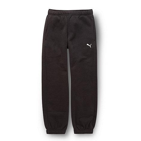 Puma - Boy+s black essential jogging bottoms