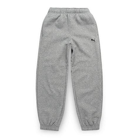 Puma - Boy+s grey essential jogging bottoms