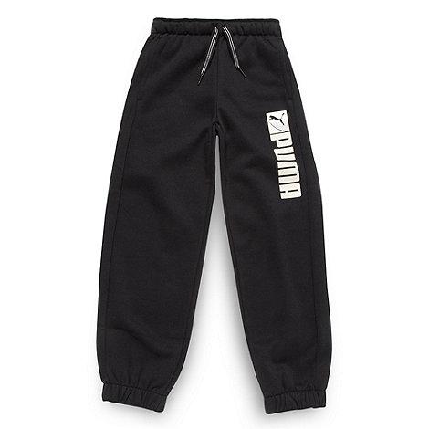Puma - Boy+s black jogging bottoms