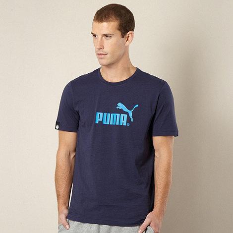Puma - Navy logo t-shirt