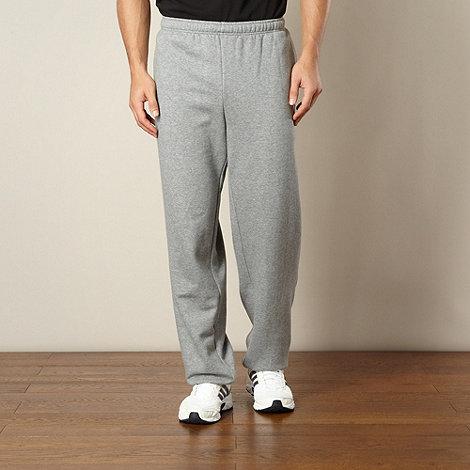 Puma - Grey cuffed jogging bottoms