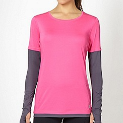 XPG by Jenni Falconer - Pink mock sleeve training top