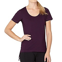 XPG by Jenni Falconer - Dark purple striped tie side t-shirt
