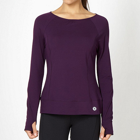 XPG by Jenni Falconer - Dark purple long sleeved training top