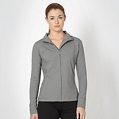 XPG by Jenni Falconer - Grey long sleeve zip through top