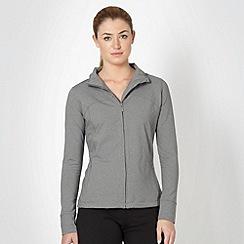 XPG by Jenni Falconer - Grey long sleeve zip through top