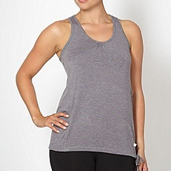 XPG by Jenni Falconer - Grey striped tie hem fitness vest